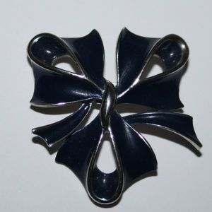 Vintage Navy and silver brooch
